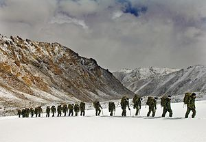 Mountain warfare - Royal Marines training in the Himalayas, 2007