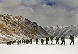 Mountain warfare - Royal Marines training in the Himalayas, 2007