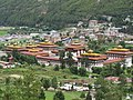 Royal Palace in Thimphu city, view from mountain, July 2016 06.jpg
