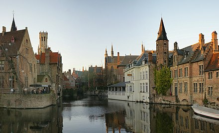 Bruges, historical city center and a UNESCO World Heritage Site Rozenhoedkaai Brugge.jpg