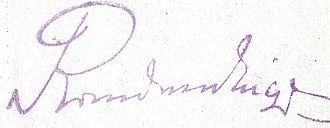 Tadeusz Jordan-Rozwadowski - Image: Rozwadowski signature