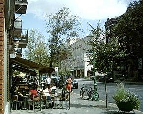 Terrasses rue Bernard Localisation d'Outremont dans Montréal