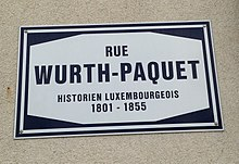 Rue Wurth-Paquet in Luxembourg-City (sign).jpg