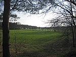 Ruhland, Verbindungsstraße von der Ortrander Str. über die Autobahn zum Forsthaus, Blick nach Südwesten zur Pflaumenallee, Frühling, 01.jpg