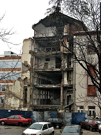 Radio Television of Serbia - RTS headquarters damaged after NATO bombing