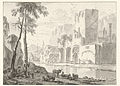 Ruins on a river bank, by Adriaen van der Kabel.jpg