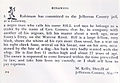 Runaway slave ad -- Slave named Bill in jail, Jefferson County, AL.jpg