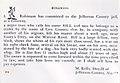 Runaway slave ad -- Slave named Bill in jail, Jefferson County, AL.jpg