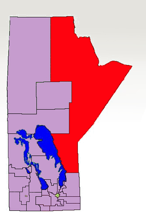 Kewatinook - The 1998-2011 boundaries for Rupertsland highlighted in red