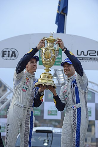 2013 World Rally Championship - Sébastien Ogier (right) and Julien Ingrassia pictured in Wales Rally GB, won their first Drivers' Championship and Co-Drivers' Championship titles.