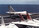 S-3A Viking of VS-28 landing on USS Forrestal (CV-59) in 1985.jpg
