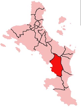 Anse Boileau - Location of Anse Boileau District on Mahé Island, Seychelles