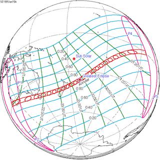 Solar eclipse of January 15, 1991 solar eclipse