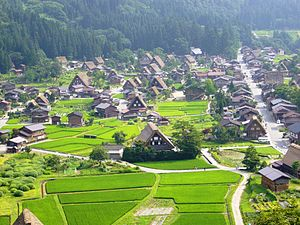 Higurashi When They Cry - Shirakawa, Gifu, the village used as the basis for Hinamizawa.