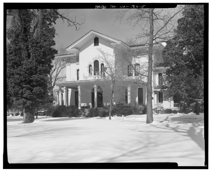 Front Royal Elevation : File southeast elevation driveway front camden
