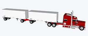 STAA doubles - STAA double pup 28.5 foot trailers