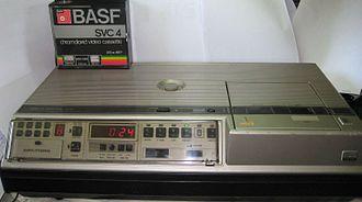 Video Cassette Recording - The rare Grundig SVR4004 machine.
