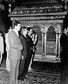 Saddam Hussein in Imam Reza shrine - 1976.jpg