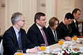 Saeimu oficiālā vizītē apmeklē jaunievēlētais Lietuvas Seima priekšsēdētājs (8265673937).jpg