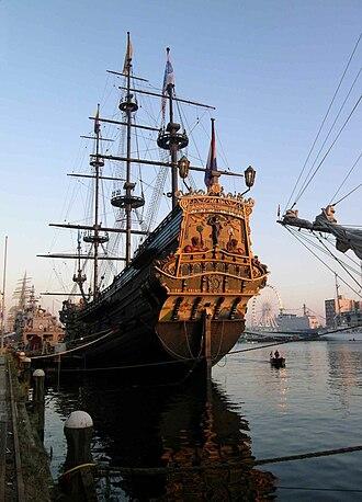 Taffrail - Image: Sail amsterdam 05 stern prins willem