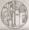Saint Guthlac. Etching by G.F. Storm, 1842, after C.A. Stoth Wellcome V0032177.jpg