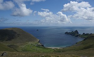 St Kilda, Scotland - Overview of Village Bay, St Kilda