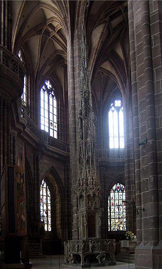 St. Lorenz, Nuremberg - The hall choir including the sacrament house by Adam Kraft
