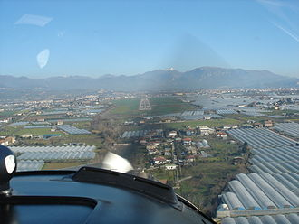 Salerno Costa d'Amalfi Airport - Aerial view of the runway