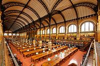 Salle de lecture de la Bibliothèque Sainte-Geneviève