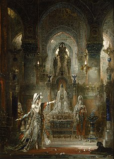 <i>Salome Dancing before Herod</i> 1876 oil painting by Gustave Moreau