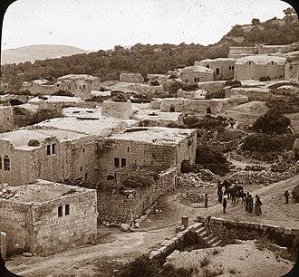 Samaria - Village in Samaria overlooking historic pool