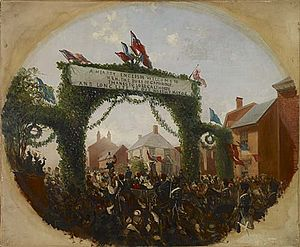 Calthorpe Park - Painting by Samuel Lines Snr.