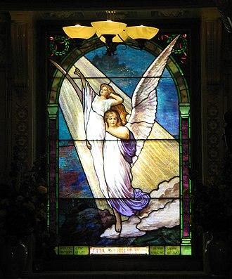 San Francisco Columbarium & Funeral Home - Image: San Fran Columbarium Window