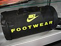 San Diego Comic-Con 2011 - Back to the Future II Nike footwear duffel bag (Profiles in History booth) (6039241661).jpg