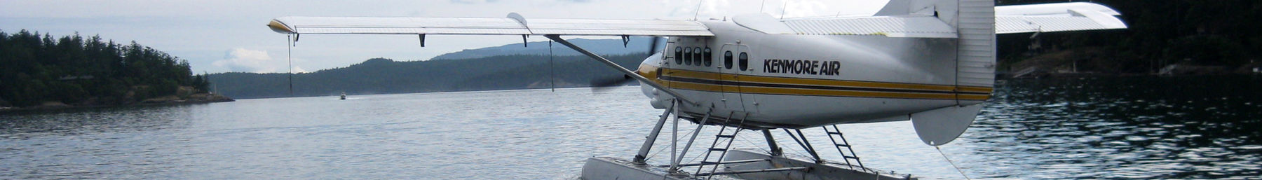 sea plane leaving Friday Harbor