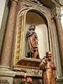 San Leonardo, interno, altare San Rocco, statua (Villadose).JPG