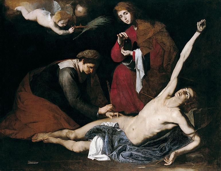File:San Sebastián curado por las santas mujeres.JPG