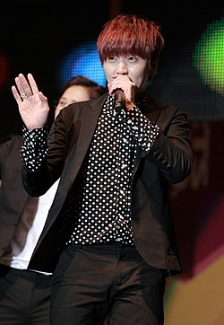 Sandeul at the Yongsan I-Park Mall on November 2013.jpg