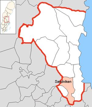 Sandviken Municipality - Image: Sandviken Municipality in Gävleborg County
