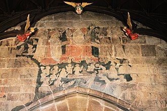 St Giles' Church, Wrexham - Doom painting over the chancel arch