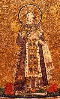 Mosaico de Santa Inês na Basílica de Santa Inês Extra-Muros