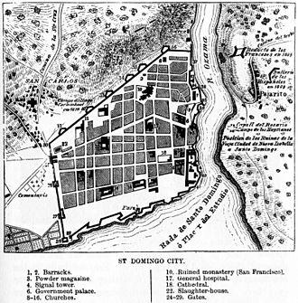 Ciudad Colonial (Santo Domingo) - Map of Santo Domingo, 1873