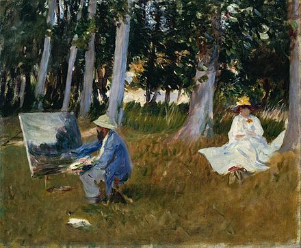 Claude Monet Painting by the Edge of a Wood, 1885, the Tate, London Sargent MonetPainting.jpg