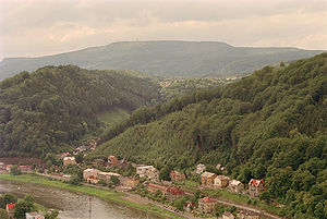 Děčínský Sněžník - View from the Elbe valley