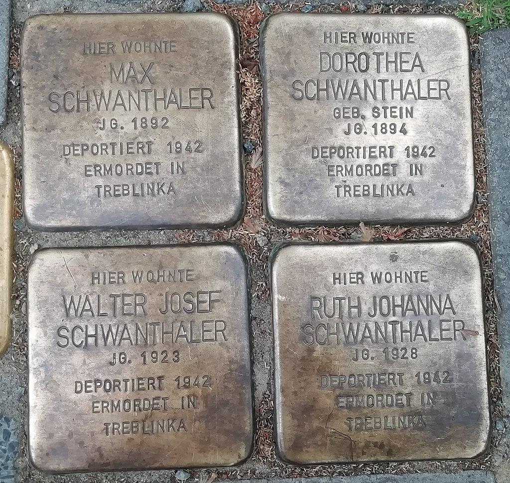 Stolpersteine für Familie Schwanthaler