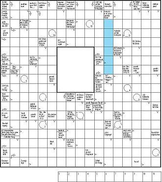 Crossword - Image: Schwedenrätsel
