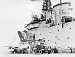 Sea Hawk aircraft of No. 803 Naval Air Squadron on board HMS CENTAUR, 14 June 1955. A33245.jpg