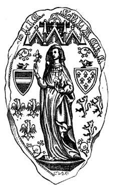 Seal of Blanche of France, Duchess of Austria.jpg