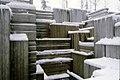 Seattle - Snow at Freeway Park, circa 1980 (38628305464).jpg