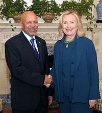 Secretary Clinton Meets With Newly Credentialed Libyan Ambassador Aujali cropped.jpg